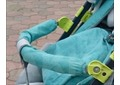 Бампер бирюзовый с желтыми креплениями для Санок-колясок Nika Kids