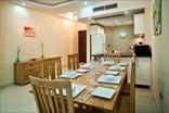 Примерная обстановка 3-комнатной квартиры - столовая и кухня открытого типа
